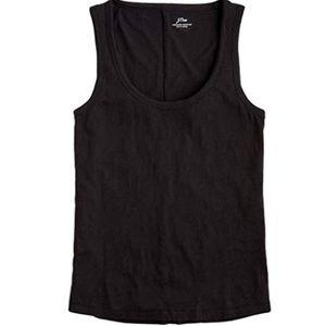 J crew vintage cotton tank top sleeveless black